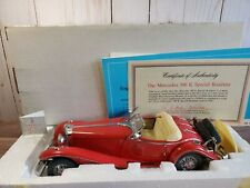 Franklin Mint 1935 Mercedes-Benz 500K Special Roadster 1:24 Scale Diecast Car