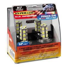 COPPIA LAMPADE LAMPADINE AUTO H7 12V LED 18 LED PER LAMPADA 6500°K