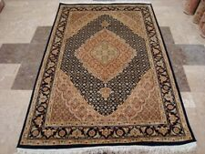 Awesome Blue Hand Knotted Rug Wool Silk Touch Carpet (6 x 4)'