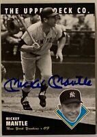 MICKEY MANTLE  1994 UPPER DECK  /  AUTOGRAPH  /  AUTO  /  U.D. AUTHENTICATION