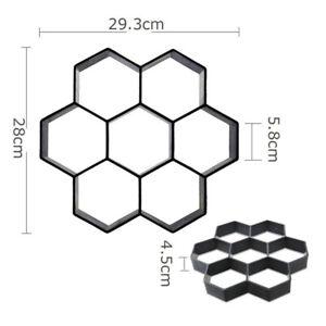 Hexagon Concrete Molds Reusable Stepping Stone Paver Walk Maker Paving Pavement