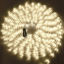 192 pcs 8m Warm White LED Connectable Rope Party Garden Light with Timer