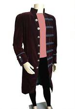 Fashion Mens Velvet  Goth Steampunk  coat SIZE: M