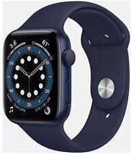 Apple Watch Series 6 44mm Blue Case Deep Navy Sport Band (GPS) Pristine In Box