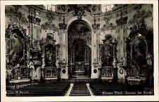 Churches Motif-Post Card ~ 1950 Benedictine Abbey Church Convent Ettal INTERIOR-A.