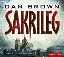 WOLFGANG PAMPEL - DAN BROWN: SAKRILEG 6 CD HÖRBUCH KRIMI/THRILLER NEU