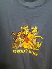 Vintage Disney Winnie The Pooh Group Hug Embroidered Shirt Youth Xl fits adult S