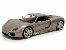 Welly 1/24 Display Porsche 918 Spyder Hardtop Diecast Car Silver 24055H-4D