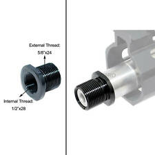 All Steel Muzzle Thread Adapter Convert 1/2x28 to 5/8x24, Crush Washer Included