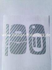 Carbon Silber Schlüssel Folie  Audi TT 5B A4 S3 A3 A1 8e S4 8N 8P 8L A2 A6 6B RS