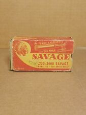 Vtg Empty Savage .250-3000 Rifle Ammo Box Rare Caliber