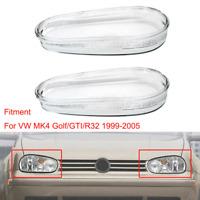 2x VW Golf MK4 GTI R32 99-05 Car Headlight Lens Cover Clear Glass Headlight L+R