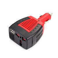 Car Cigarette 75W DC12V to AC220V 5V Power Inverter Converter Adapter Charger
