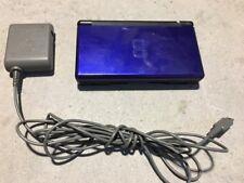 Nintendo DS Lite Launch Edition Cobalt Blue Black Hinge Little loose NICE NES HQ