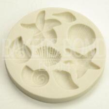 Sea Shells 8-Piece Summer Silicone Mould Beach Decoration Fondant Icing Cake