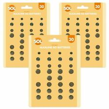 90 Assorted Button Coin Cell Batteries | AG1/3/4/10/12/13 Watch Lithium Battery