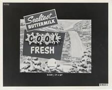 VINTAGE AD STILL-ORIGINAL PHOTO-THE WEILLER COMPANY-SEALTEST BUTTERMILK
