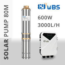 "WBS 3"" DC Solar Bore Pump for Irrigation Water Pump for Against Drought 600W 48V"