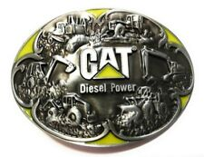 ♈PWT3 CAT CATERPILLAR Belt Buckle ♈ pewter yellow color Great gift. Construction