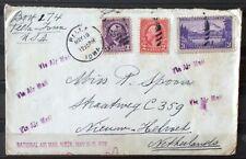 NEDERLAND; Brief vanuit PELLA, Iowa, Verenigde staten met speciaal stempel!!