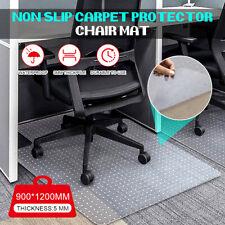 More details for non slip office chair desk mat floor computer carpet protector pvc plastic clear
