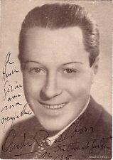 ANDRE BALBON opera bass signed photo, London, 1935