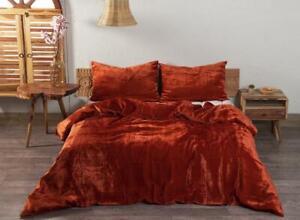 Crushed Velvet Duvet Cover Bohemian Bedding Stylish Comforter Cover Quilt Cover