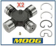 2 Heavy Duty Driveshaft Universal Joint RWD/4WD Moog Greasable Pair Expedited