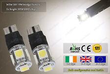 2x LED T10 W5W 501 3500k Xenon White Strobe Police Flash Bulbs Car Sidelights
