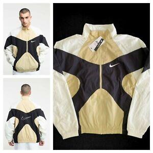 $140 Nike NSW Re-Issue Woven Men's Sz S Jacket Beige/Black BV5210-783