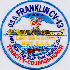USS Franklin CV 13 - Lest we forget 921 KIA - Patch - Cat No. C5361