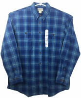 Duluth Trading Mens Free Swinging Flannel Shirt Size XLarge Tall Blue Plaid