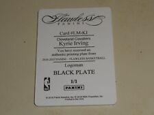 2017-18 Panini National Treasures Flawless Printing Plate Kyrie Irving 1/1