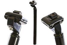31.6mm SEAT POST MICRO ADJUST KALLOY LIGHTWEIGHT ALLOY BLACK SADDLE PIN 350mm