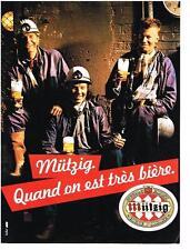 PUBLICITE ADVERTISING  1984  MUTZIG  bière