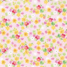 Moda Stephanie Ryan Fleurologie Floral Sweetness Fabric in Blush Pink 7193-17