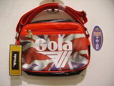 GOLA BORSA PICCOLA MINI REDFORD BRITANNIA CUB509 BLACK RED WHITE NERO ROSSO BIAN