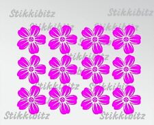 12 x Small Pink Pansy Flowers Daisy Car Window Bike Stickers SBF14