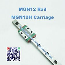 Large Size  Kossel Mini MGN12 800mm 12mm miniature rail MGN12H carriage