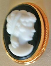 VICTORIAN   CAMEO  BROOCH - PENDANT  DESIGNER  by A&Z Gold Filled