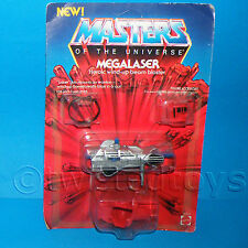 VINTAGE 1985 80s MOTU HE-MAN (HEMAN) MEGALASER BEAM BLASTER MOC OPENED CARDED