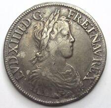 LOUIS XIV - Ecu à la mèche longue - 1652 A - Paris -