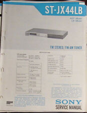 Sony ST-JX44LB tuner service repair workshop manual (original copy)