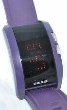 Diesel Men's Purple Dot Matrix LED Watch Scrolling Message Silicone Band DZ-7167