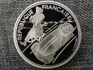 France 1992 Olympics, Albertville, Bobsledding 100 Francs .900 Silver Coin 1990