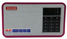 Tecsun X3 Rechargeable Fm Radio with Mp3 Player Portable Hi-Fi Speaker - Red