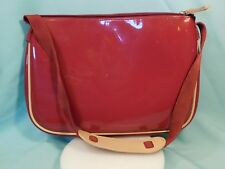 GAP Red Patent Leather Style Bag Shoulder Strap Zippered Top and Inner Pocket
