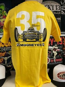 Mooneyes Japan 35th anniversary yellow t-shirt size S hot rod  kustom dragster