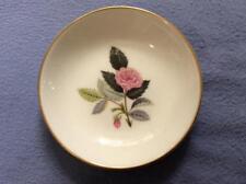 "Wedgwood Hathaway Rose bone china 4"" pin tray black mark"