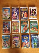 Walt Disney Masterpiece VHS Movies video lot black Diamond Dumbo Tarzan